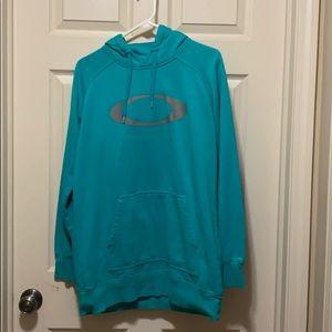 Oakley large teal long hoodie